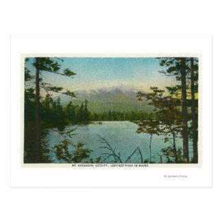 View of Mount Katahdin, Loftiest Peak in Maine Postcard