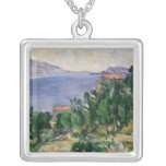 View of Mount Marseilleveyre and the Isle of Square Pendant Necklace