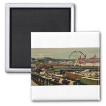 View of Mount Rainier from Pike Place Public Marke Magnet