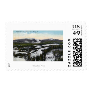 View of Mount Saddleback in the Winter Postage Stamp