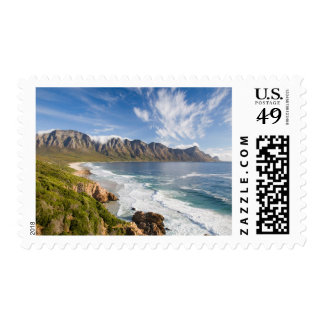 View Of Mountains With Clouds And Fynbos Postage