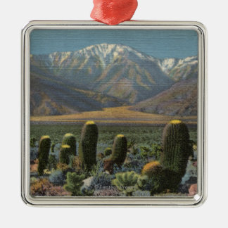View of Mt. San Jacinto Near Palm Springs Square Metal Christmas Ornament