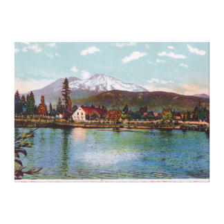 View of Mt. Shasta from the Fish Hatchery Stretched Canvas Print