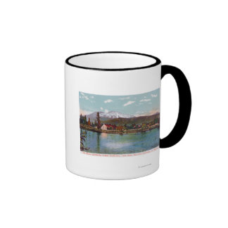 View of Mt. Shasta from the Fish Hatchery Ringer Coffee Mug