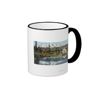 View of Mt. Shasta from the Sisson Fish Hatchery Coffee Mugs