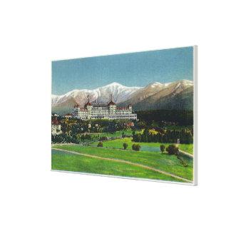 View of Mt Washington Hotel Presidential Range Canvas Prints