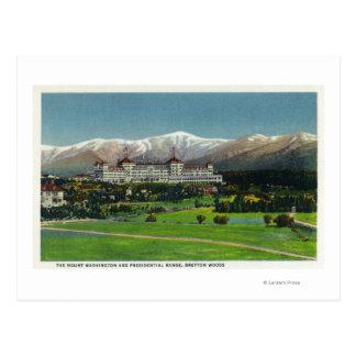 View of Mt Washington Hotel, Presidential Range Postcard