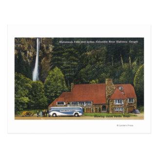 View of Multnomah Falls Lodge Postcard