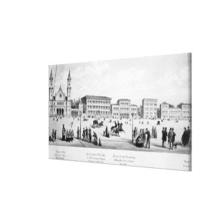 View of Munich, 1869 Canvas Print