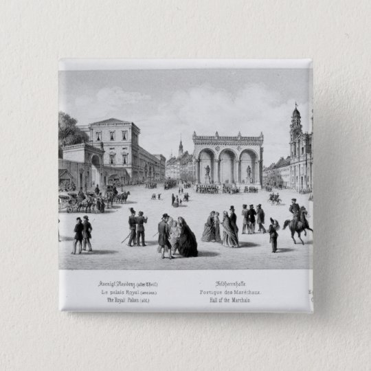 View of Munich, 1869 Pinback Button