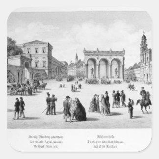 View of Munich, 1869 Square Sticker