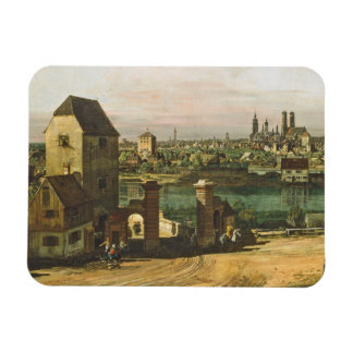 View of Munich, c. 1761 (oil on canvas) Magnet