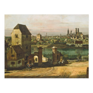 View of Munich, c. 1761 (oil on canvas) Postcard