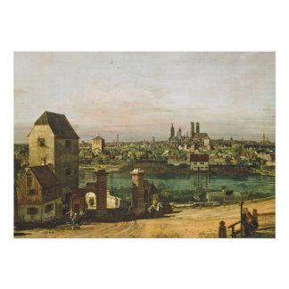 View of Munich, c. 1761 (oil on canvas) Poster