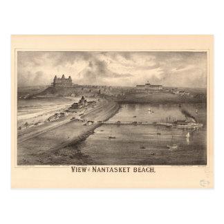 View of Nantasket Beach by Richard Mallory (1879) Postcard