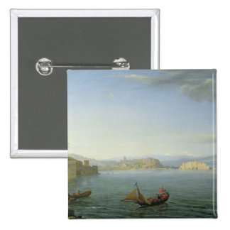 View of Naples, 1750 Button