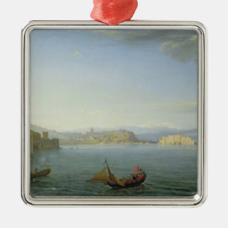 View of Naples, 1750 Metal Ornament