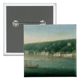 View of Naples from the east, 1730 Pinback Button