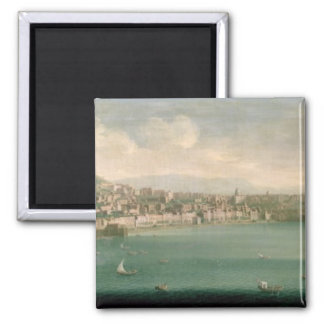 View of Naples from the west, 1730 2 Inch Square Magnet