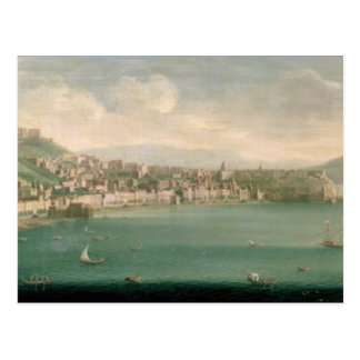 View of Naples from the west, 1730 Postcard