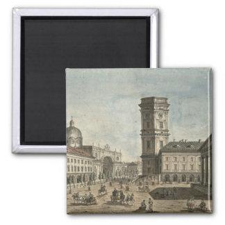 View of Nevsky Prospekt, St. Petersburg, 1810 2 Inch Square Magnet