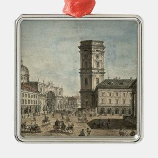View of Nevsky Prospekt, St. Petersburg, 1810 Metal Ornament