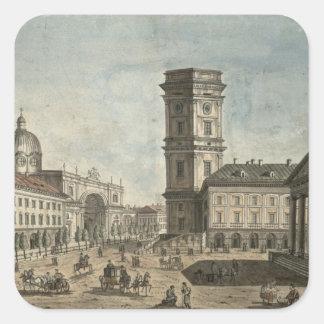 View of Nevsky Prospekt, St. Petersburg, 1810 Square Sticker