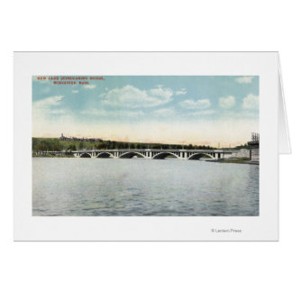 View of New Lake Quinsigamond Bridge Card