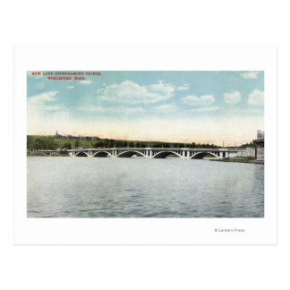 View of New Lake Quinsigamond Bridge Postcard