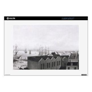 "View of New Orleans taken from the Lower Cotton Pr 15"" Laptop Decal"