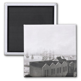 View of New Orleans taken from the Lower Cotton Pr 2 Inch Square Magnet