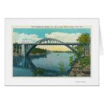 View of New Suspension Bridge Greeting Card