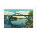 View of New Suspension Bridge Postcard