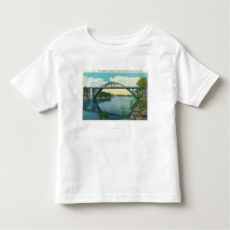 View of New Suspension Bridge Toddler T-shirt