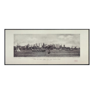View of New York City and The North River Poster