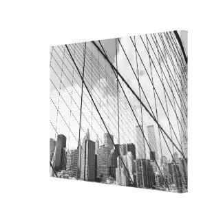 View of New York from Brooklyn Bridge Canvas Print