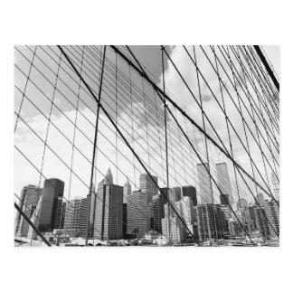 View of New York from Brooklyn Bridge Postcard