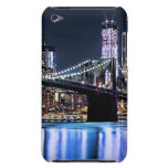View of New York's Brooklyn bridge reflection iPod Case-Mate Cases