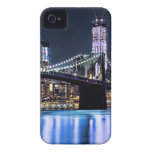View of New York's Brooklyn bridge reflection iPhone 4 Case-Mate Case