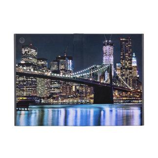 View of New York's Brooklyn bridge reflection Cases For iPad Mini