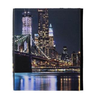 View of New York's Brooklyn bridge reflection iPad Folio Cover