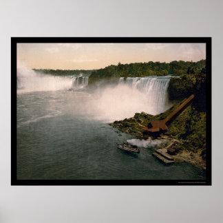 View of Niagara Falls 1898 Print