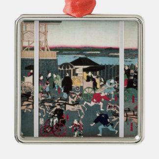 View of Nihonbashi in Tokyo, c.1870 Metal Ornament