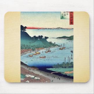 View of Niigata by Utagawa,Hiroshige Mousepads
