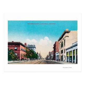 View of Nineteenth StreetBakersfield, CA Postcard
