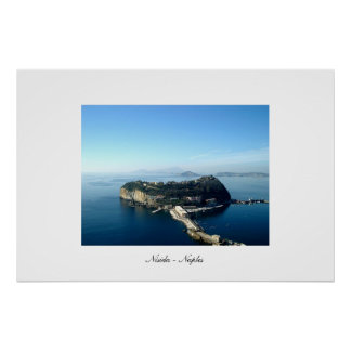 View of Nisida with Ischia and Campi Flegrei Poster