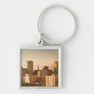 View of Nob Hill in San Francisco, with the fog Keychain