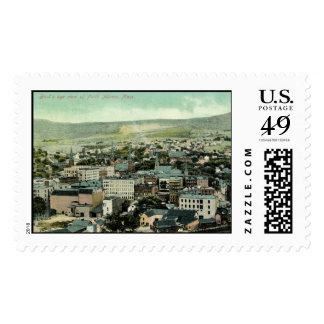 View of North Adams, MA 1911 Vintage Stamp