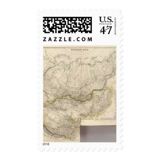view of Northern Asia from the Himalaya Mountains Postage