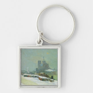 View of Notre Dame, 1894 (oil on canvas) Keychain